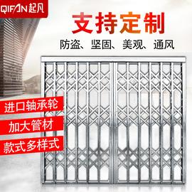 304不锈钢铝合金拉闸门伸缩门阳台门推拉门折叠门防盗门逃生门图片