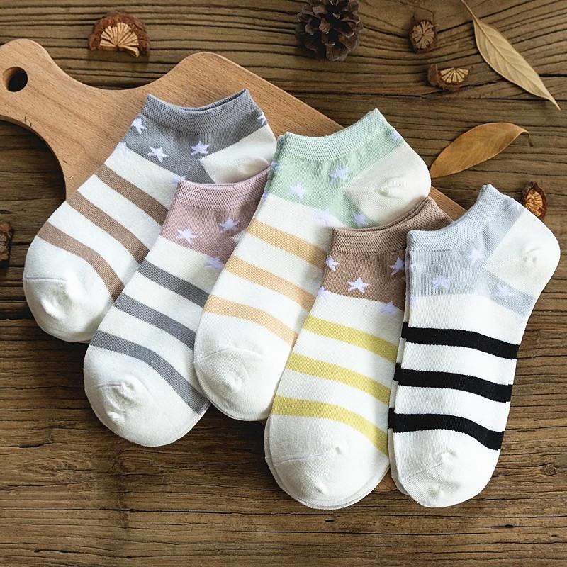 男士袜子日系袜纯棉船袜女生袜女船袜短袜隐形袜韩版袜5双装