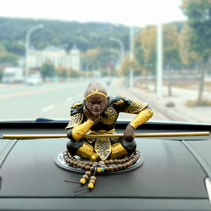 齐天大圣孙悟空猴子创意汽车摆件斗战胜佛车载摆件个性车内装饰品