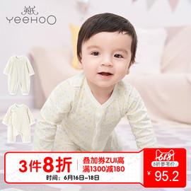 英氏婴儿连体衣新生儿童装和尚服宝宝衣服连体睡衣夏装长袖春秋图片