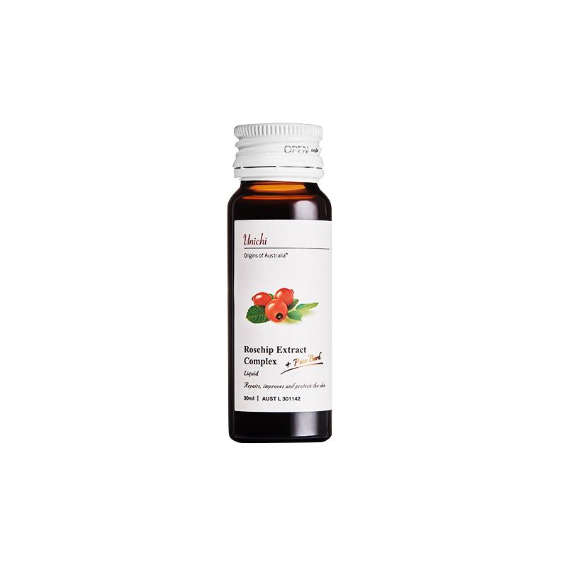 UNICHI玫瑰果美白液30ml*10瓶修复肌肤澳洲精华口服液提亮肤色