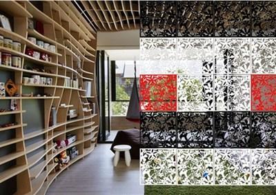 悬挂式塑料屏风隔断时尚墙镂空窗花餐客厅办公酒店玄关门帘子