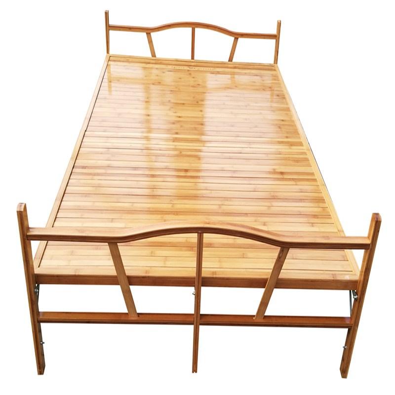简易床午休成人办公室折叠床家用板式床单人双人多功能经济型竹床