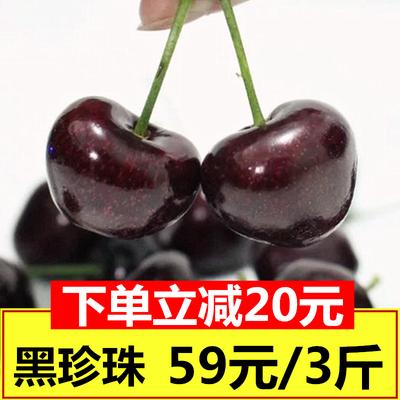 新鲜水果大樱桃车厘子山东烟台露天樱桃现摘现发黑珍珠包邮3斤