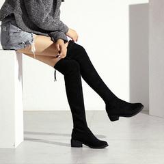女平底高靴