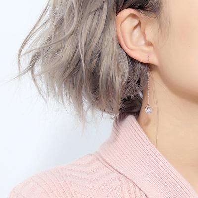 【饰悟】925纯银六芒星几何耳环女长款气质设计感耳钉小众耳钉女