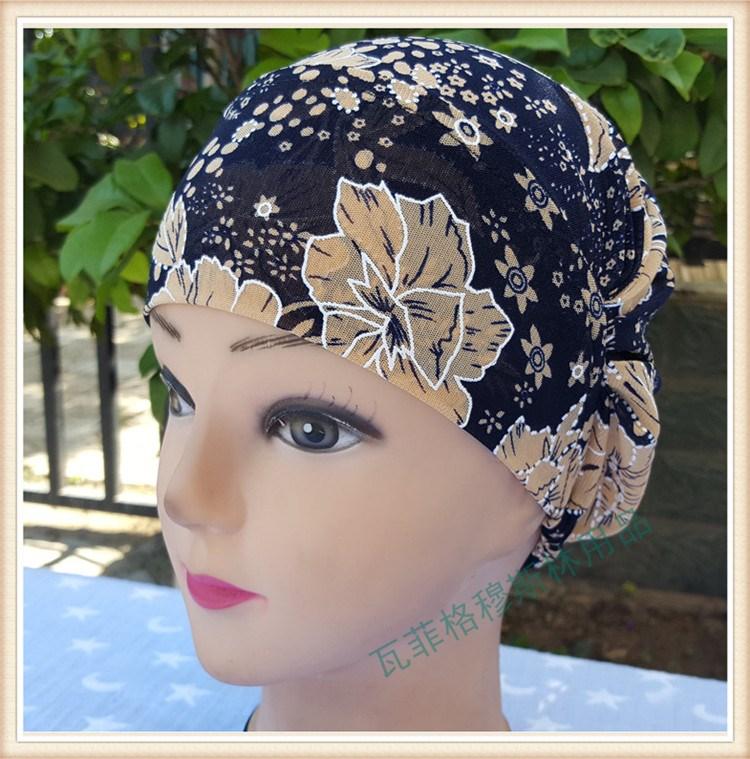 穆斯林用品绣花女帽回族回民帽子伊斯兰服饰头饰头巾盖头盘花