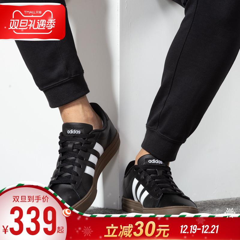 阿迪达斯男鞋 2019秋季新款正品经典帆布鞋NEO运动潮休闲鞋板鞋男
