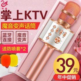 LS-K088 儿童无线麦克风话筒宝宝小孩ktv卡拉ok唱歌机可充电