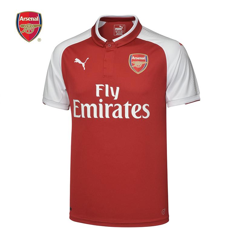 阿森纳Arsenal彪马Puma17-18主场男子短袖运动T恤球衣队服足球服