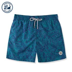surfcuz 男短裤速干沙滩裤男宽松短裤温泉海边度假泳裤男有内衬