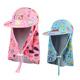 韩国防晒泳帽儿童泳帽卡通大檐帽户外沙滩海边遮阳护颈帽