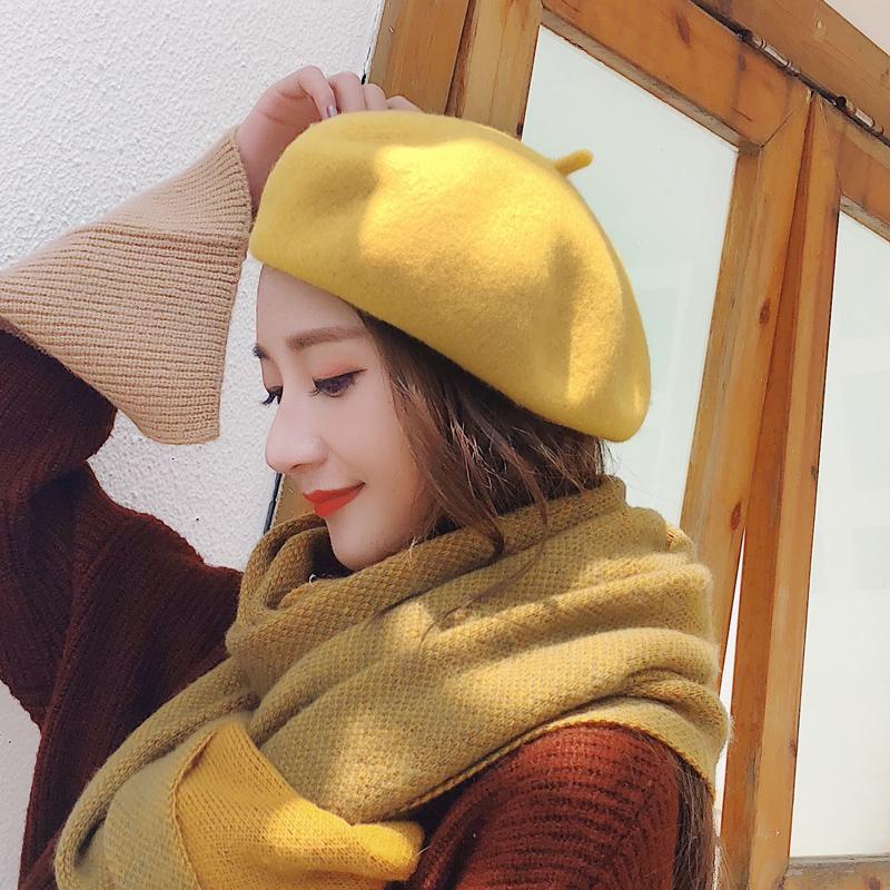 新款帽子女羊毛