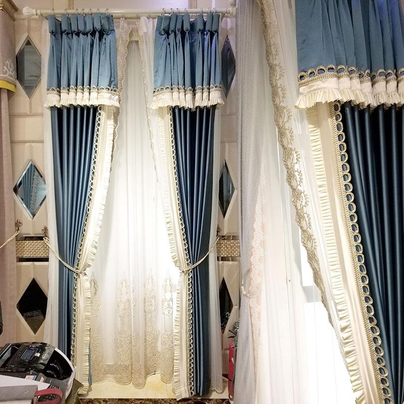 窗帘高窗花边