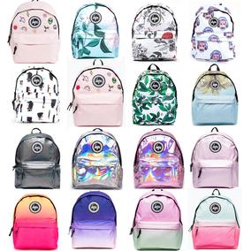 现货正品JUST HYPE 欧美学院印花双肩包中学生书包背包男女旅行包