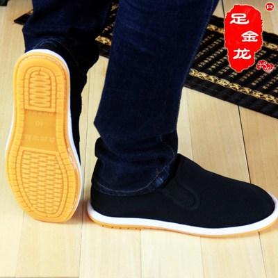 厂家直销秋冬老北京黑色布鞋西山布鞋男款牛筋底布鞋防臭透气布鞋