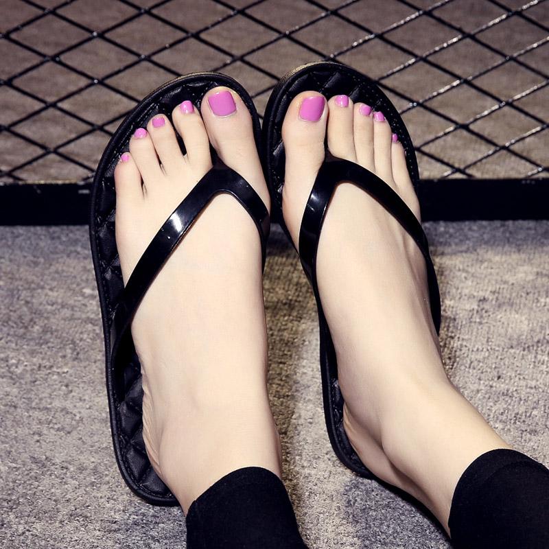 夏季凉拖鞋沙滩居家浴室室外海边防滑软底夹脚平底夹拖鞋人字女拖
