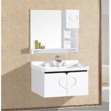 卫浴欧式PVC浴室柜组合 洗手盆洗脸盆面盆挂墙式小户型卫浴柜60cm