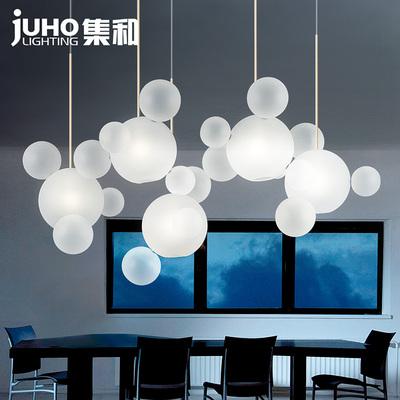 餐厅吊灯简约现代吧台橱窗店铺北欧个性创意玻璃肥皂泡泡客厅灯饰