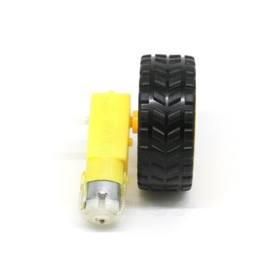 智能小车底盘驱动轮子机器人轮胎套装TT电动马达套件