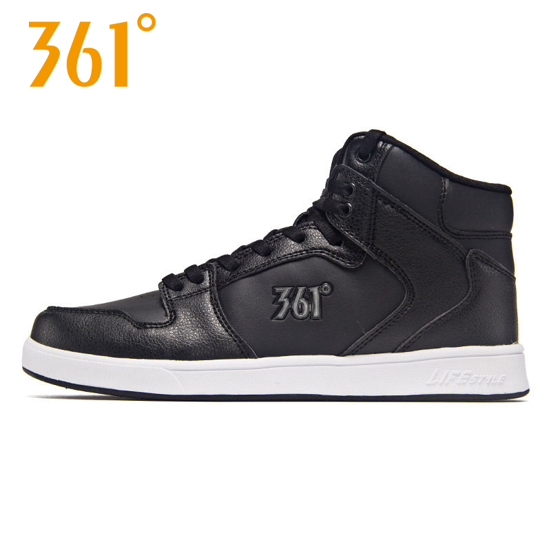 361女鞋运动鞋秋季新品高帮板鞋时尚潮流休闲鞋361度小白鞋学生鞋
