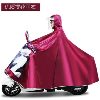 天堂提花雨衣踏板车超大加厚电动车大号男装摩托车雨披单双人成人