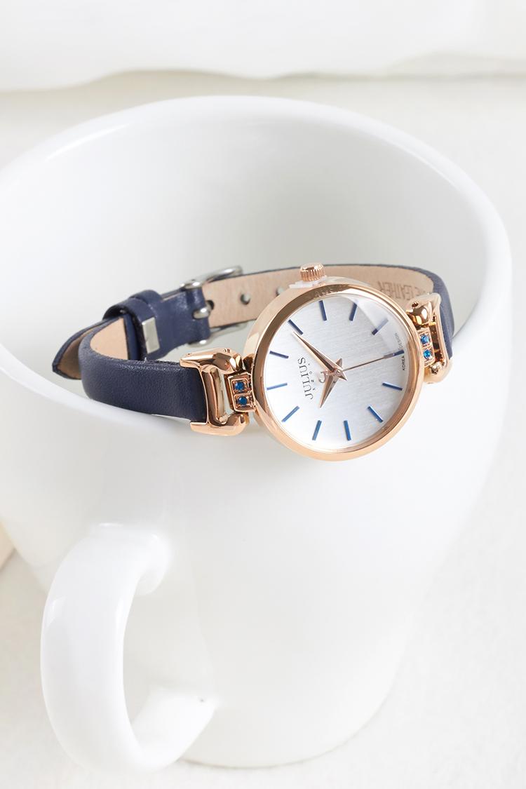 女表 OL 专柜正品聚利时典雅细表带女学生韩版简约石英表真皮手表