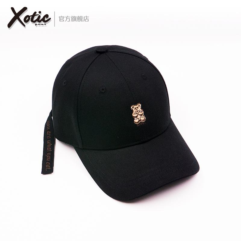 Xotic官方 小熊系列 飄帶標語 臺灣潮流棒球鴨舌帽防曬遮陽帽男女圖片