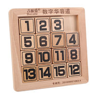 Digital Camouflage Disk Three Kingdoms Digital Huarong Road Puzzle Primary School Children's Kindergarten Puzzle Wooden Toys