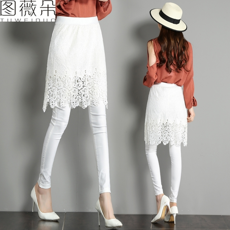 打底裤裙白色九