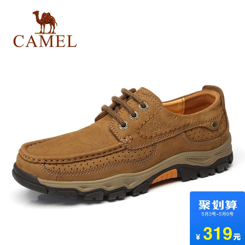 骆驼户外休闲皮鞋