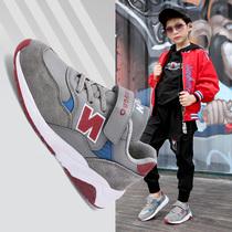 新款中大童女童鞋运动鞋子韩版儿童休麻2018男童网鞋夏季透气