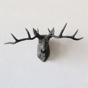 品复古仿真大鹿头挂件饰品树脂工艺式潮州年底畅销卖美欧复古挂件