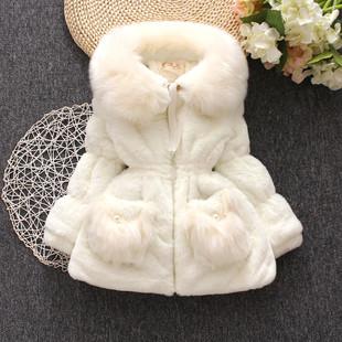 女童皮草外套2017新款韩版宝宝公主仿兔毛毛毛衣儿童冬季加厚棉衣