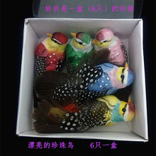 Boxed Birds 6/Boxed Simulated Feather Birds Wings for Beautiful Pearl Feather Pearl Birds Home Decorations
