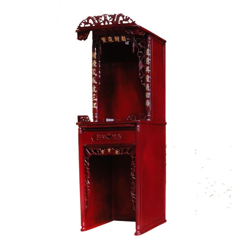 佛龛两层神台供奉台佛柜财神观音关公拜神柜供桌祖先神龛中式立柜