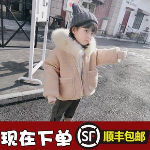 童装2017韩版新款女童冬装加厚外套儿童棉衣上衣宝宝两件套装洋气