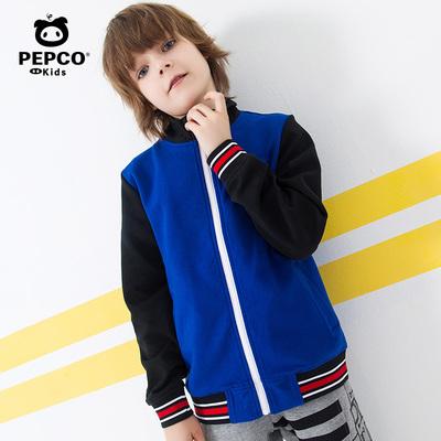 小猪班纳童装男童外套2019新款儿童高领休闲棒球服春秋装拉链衫