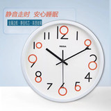 Clock wall clock living room modern minimalist atmosphere home creative quartz clock bedroom silent round metal frame hanging watch