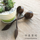 Coconut Shell Craft Coconut Shell Spoon Potted Multi-Meat Water Pot Pot Point-mouth Packing Post Small Spoon Water Ladle Mini Household