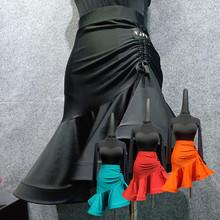 又见梵羽 拉丁舞蹈服装 鱼骨大裙摆半身裙 拉丁练功服 W2新款