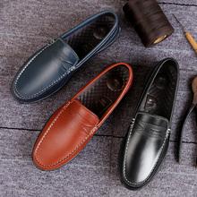 皮鞋男流行男鞋子新款男鞋商务休闲鞋软底豆豆鞋男英伦百搭驾车鞋