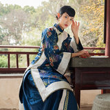 Qing Dynasty Women's Republic of China Wind Show Wo clothing Chinese traditional costume dignified young grandmother suit Miss costume costume costume