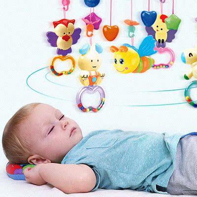 婴儿床铃音乐旋转玲0-1岁床头铃女宝宝儿玩具0--个月男孩转铃早教