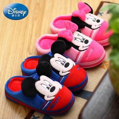 迪士尼拖鞋成人小孩宝宝男童女童亲子母女儿童米老鼠棉拖鞋防滑
