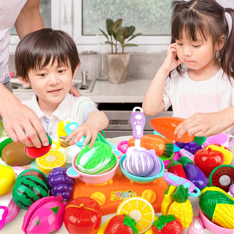 切水果玩具 女孩儿童过家家水果切切乐套装蔬菜切菜宝宝果蔬蛋糕