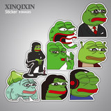 Frog expression pack sad frog sticker sad pepe frogs skateboard phone tablet cartoon funny car sticker