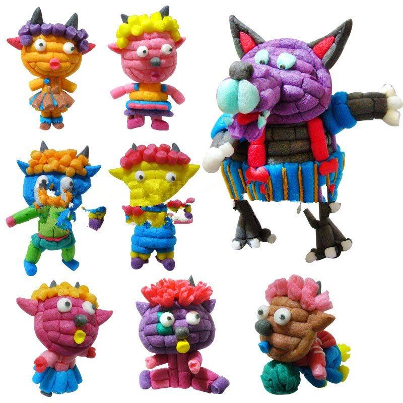 魔法积木玉米粒手工制作diy儿童幼儿园玩具美工区创意材料粘粘乐