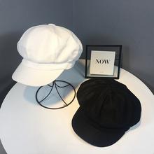 街头潮鸭舌贝雷帽 百搭韩版 帽子女夏季英伦薄款 透气八角帽日系时尚图片