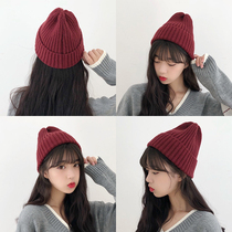 Wool hat Female Winter Korean edition hundred Ladies Autumn Winter sweet cute warm knitted hat ins South Korea tide